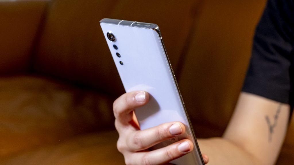 LG Velvet Smartphone handheld