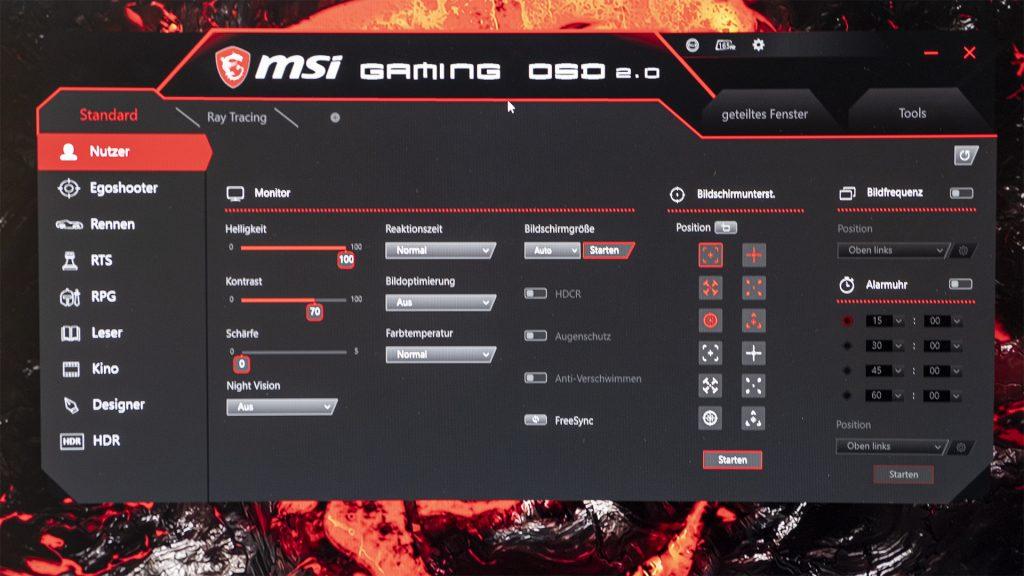 MSI Optix MAG322CQR MSI Optix MAG322CR Gaming Monitore Gaming OSD 1