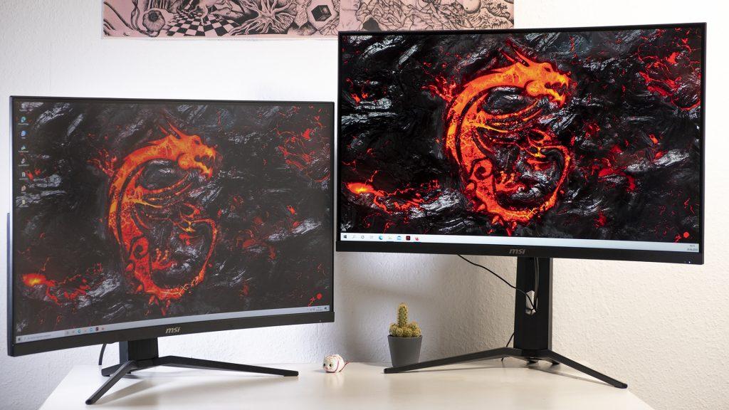 MSI Optix MAG322CQR MSI Optix MAG322CR Gaming Monitore Höhe Maximal Minimal