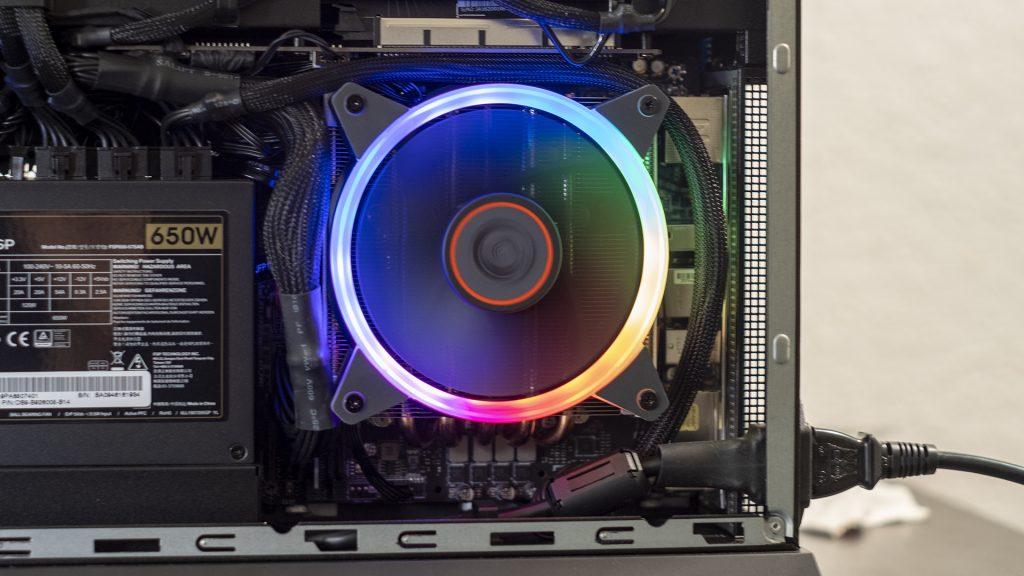 MSI Trident X Plus RGB CPU Fan Close Up Kühler