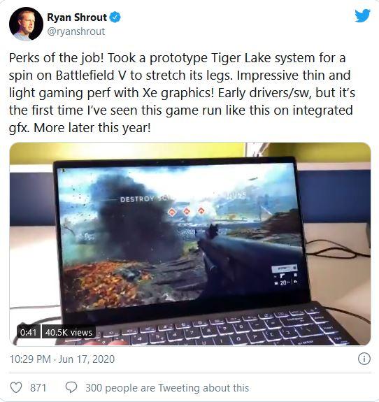 Tiger Lake Ryan Shrout Twitter