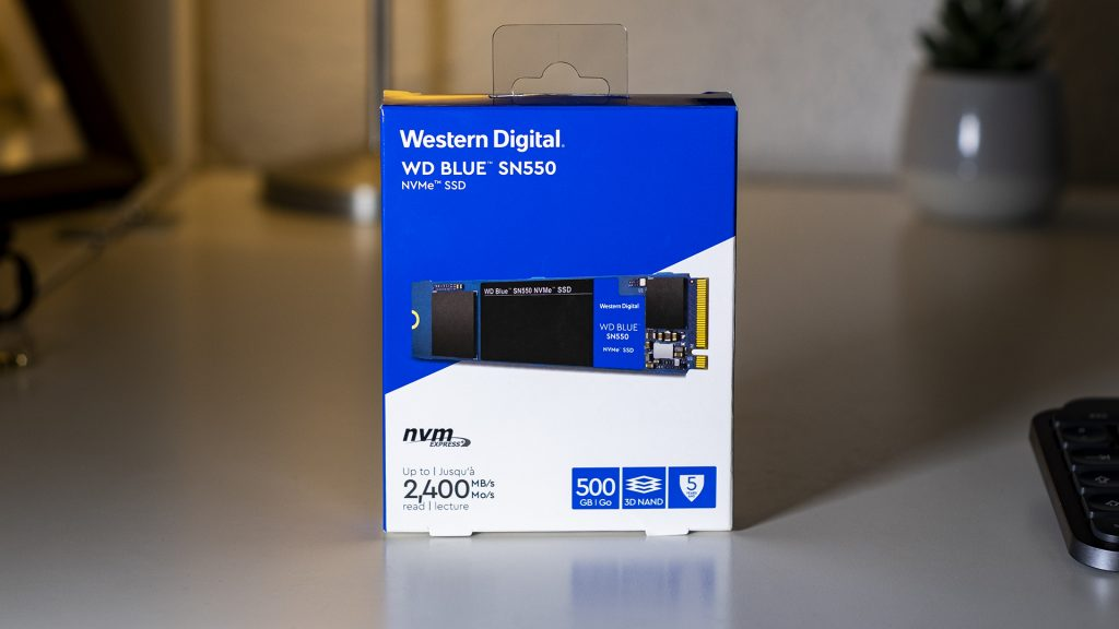 WD Blue SN550 PCIe NVMe SSD Value Budget Verpackung