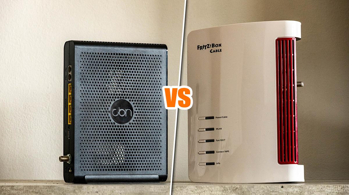 Vergleichstest: Kabel Deutschland Router vs. FRITZ!Box 6660 Cable