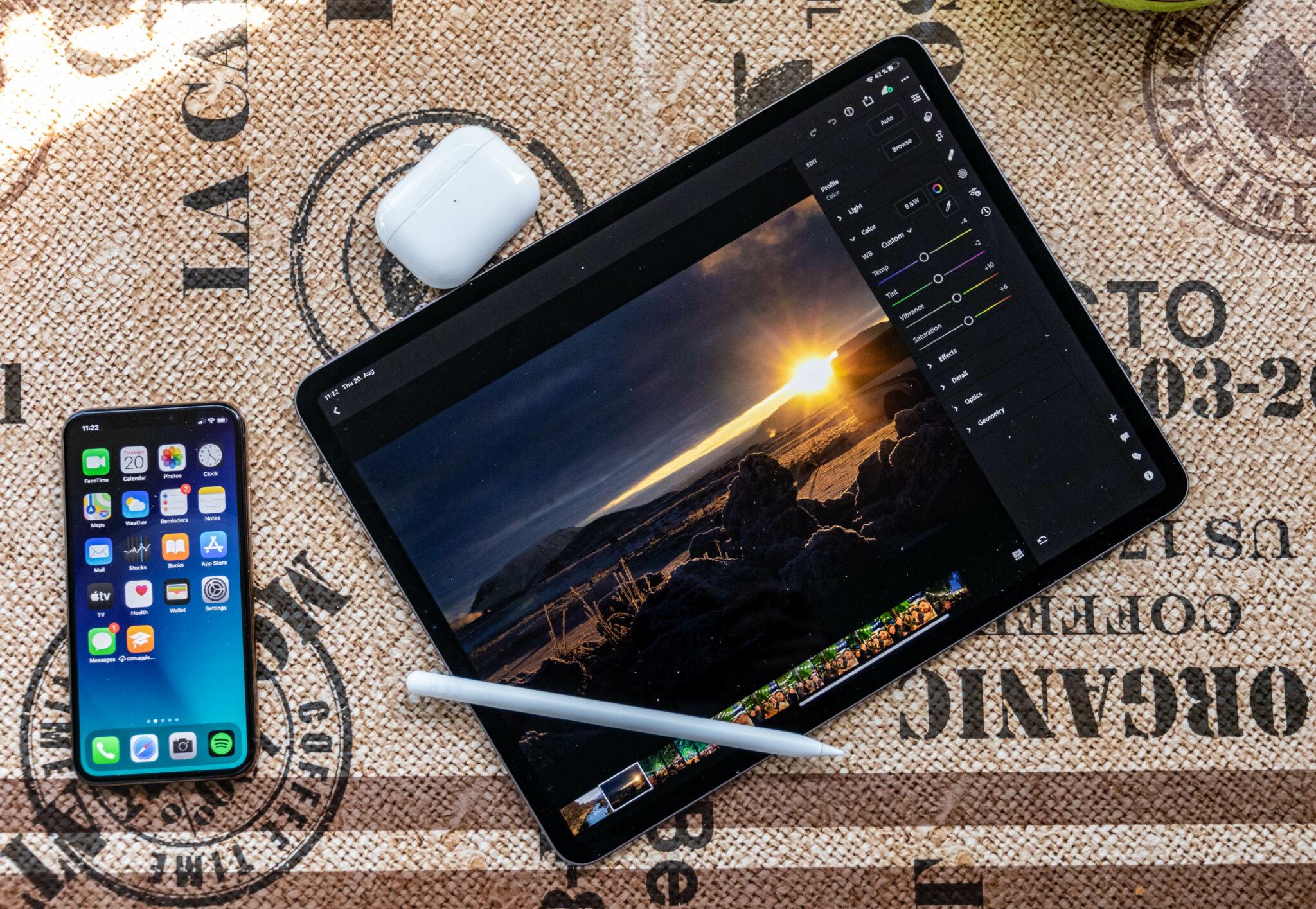 Apple iPad Pro Laptop Lightroom
