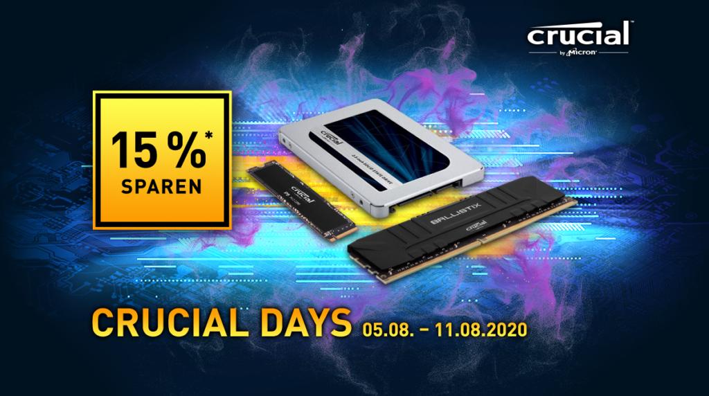 Crucial Days bei NBB – Richtig sparen auf SSDs und Arbeitsspeicher