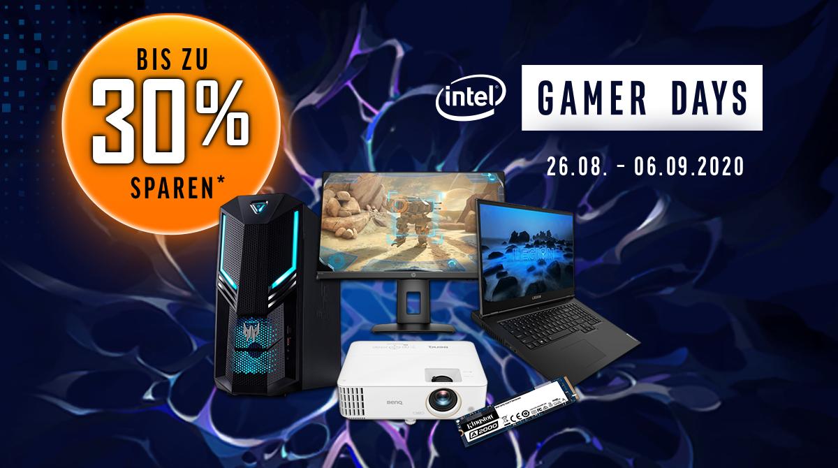 Intel Gamer Days: Spart bis zu 30% auf Notebooks, PCs, Monitore, Hardware und Co.
