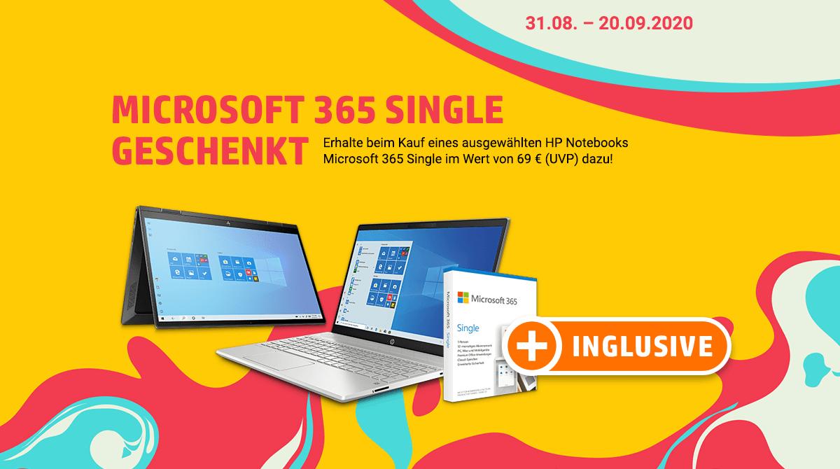 Aktions-Notebook von HP kaufen und Microsoft 365 Single inklusive erhalten