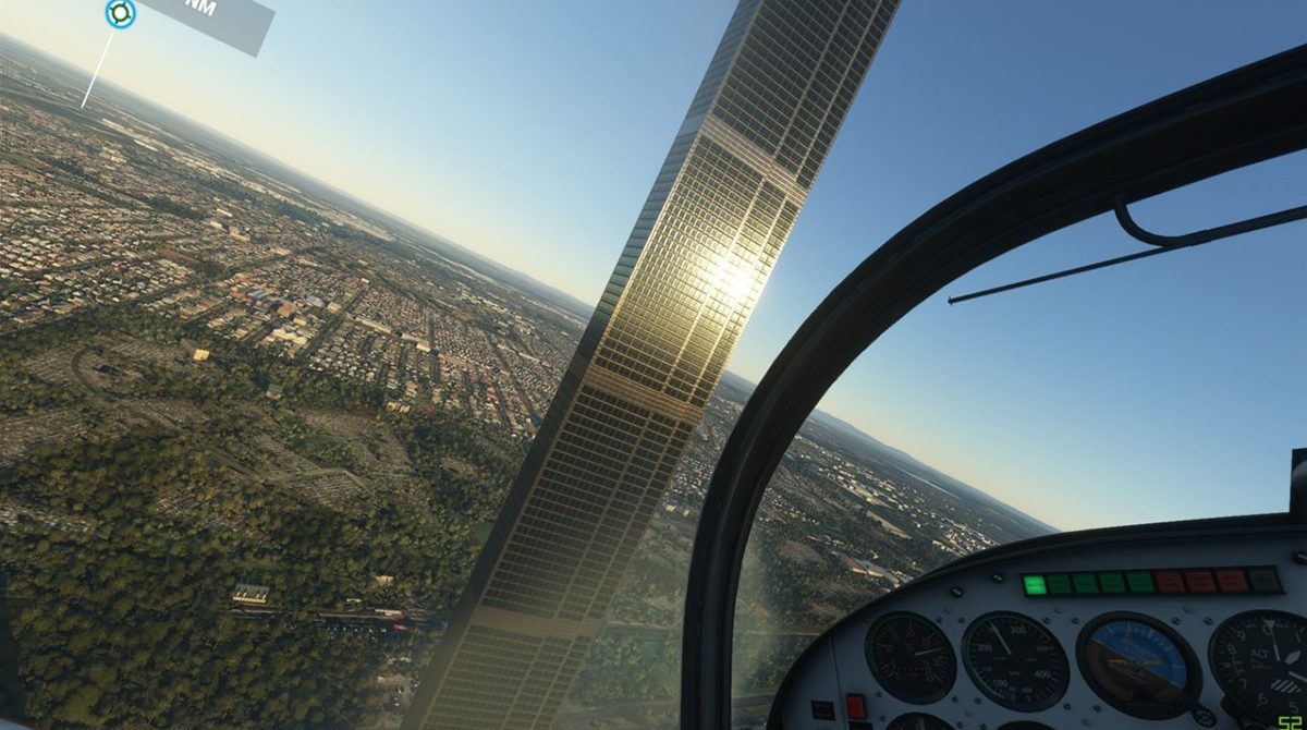 Microsoft Flight Simulator: Melbourne Monolith stammt von einem Tippfehler