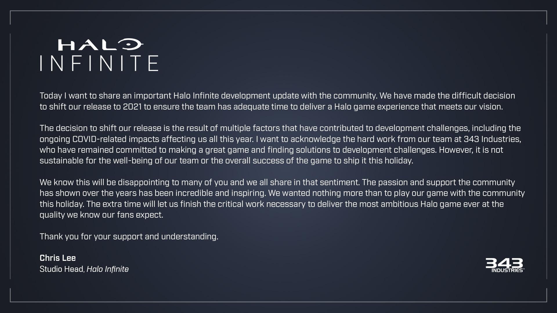 Xbox Halo Infinite Verschiebung