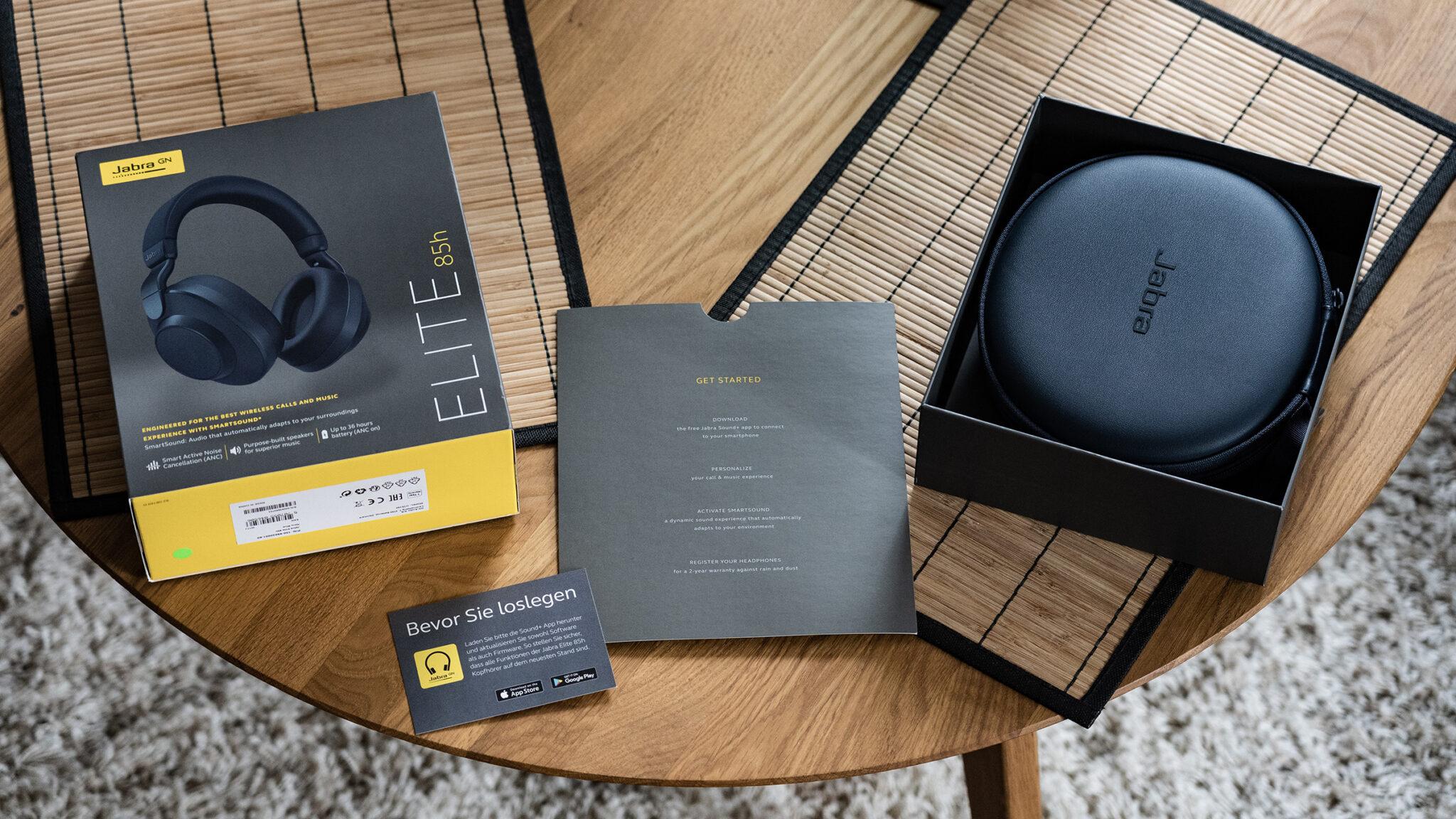Jabra Elite 85h ANC Headset Verpackung