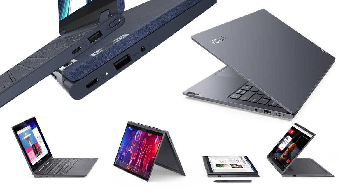 Lenovo stellt fünf neue Yoga-Notebooks mit Intel und Ryzen-CPU vor