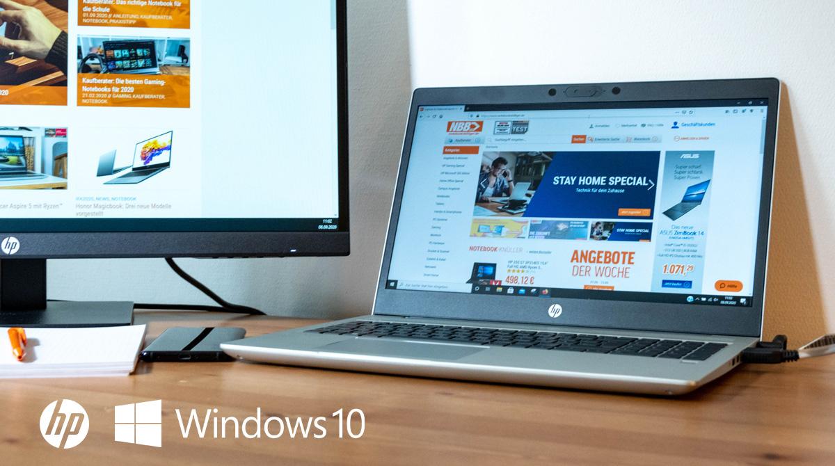 HP ProBook 455 G7 im Test: Office-Dauerläufer mit Ryzen 5 und Windows 10 Pro