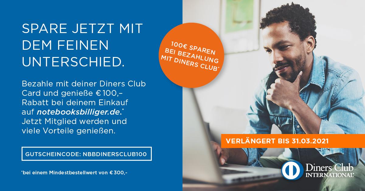 Diners Club: Spart 100 Euro bei einem Einkauf ab 300 Euro Mindestbestellwert