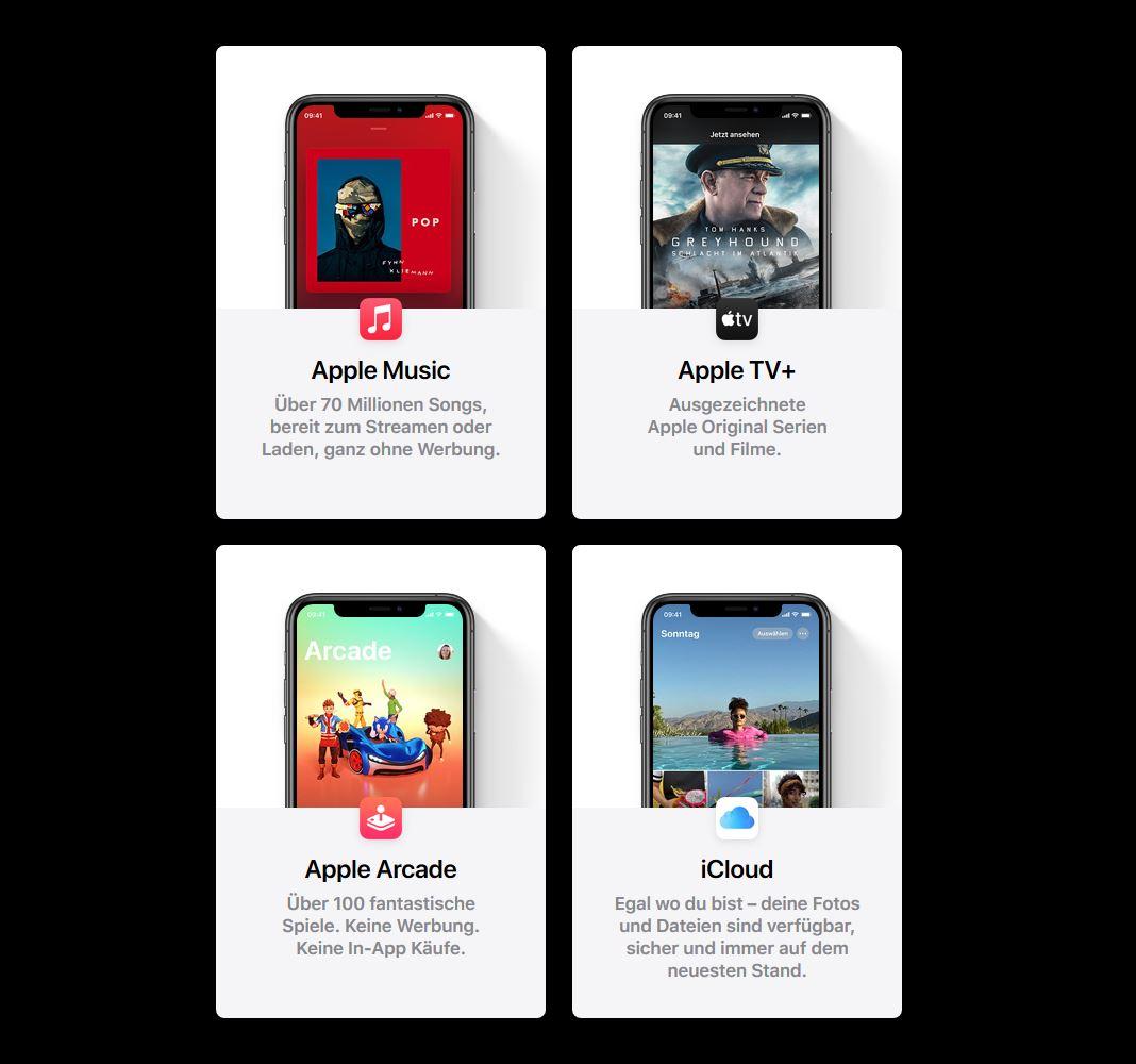 Apple One Dienste Start