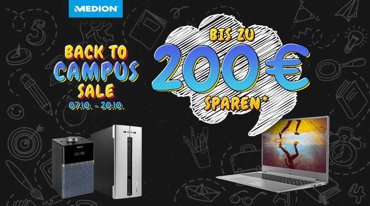 Medion Back to Campus: Bis zu 200 Euro sparen