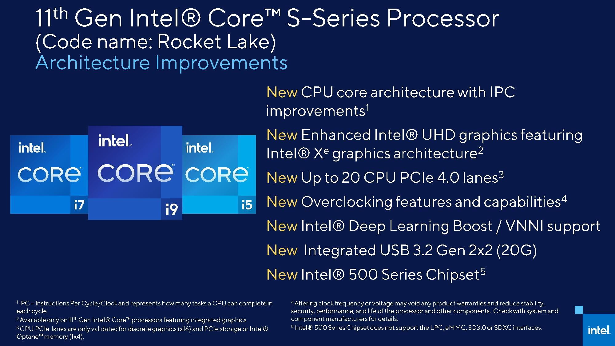 Intel Rocket Lake S Architecture Information FINAL