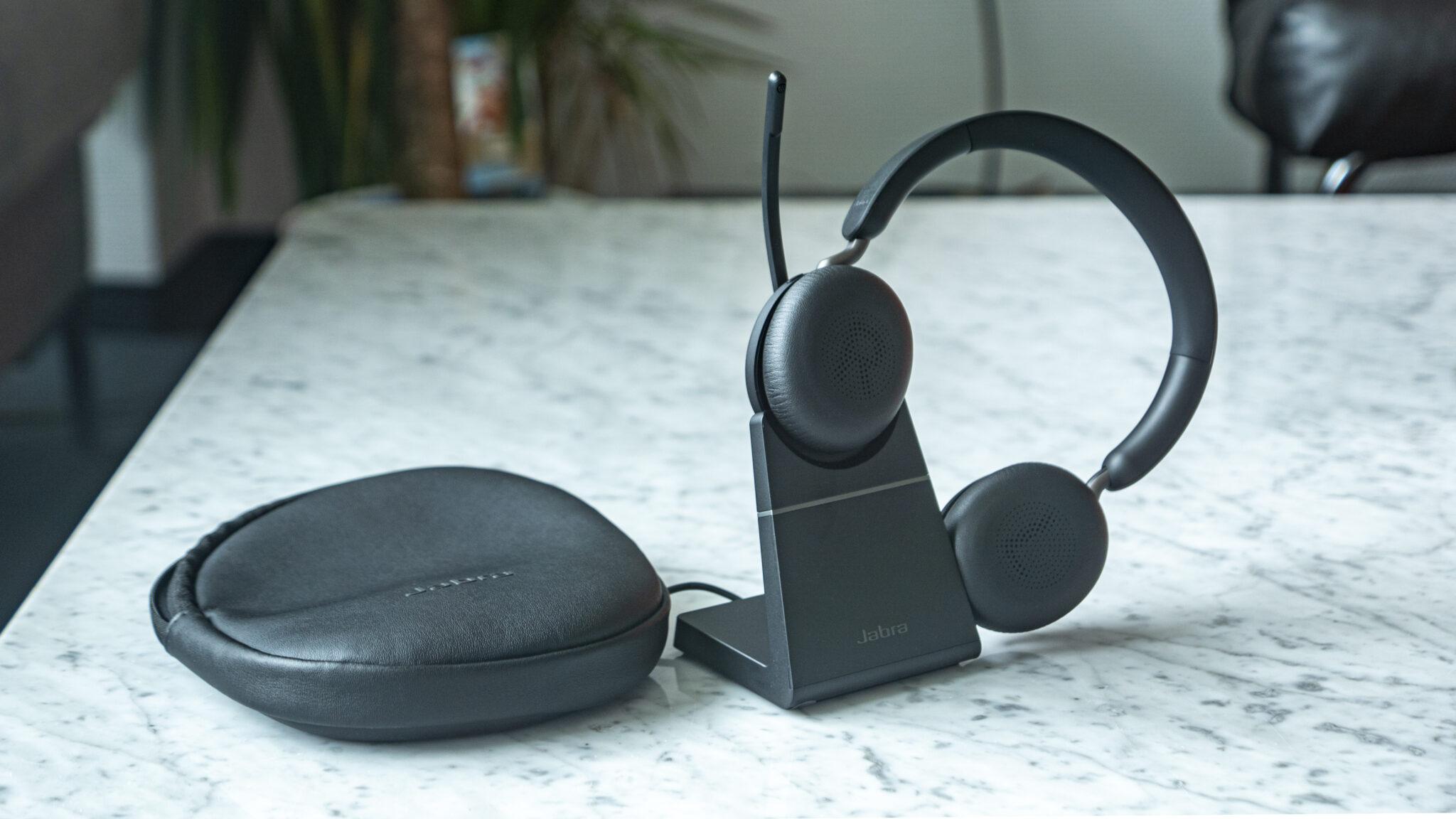Jabra Evolve2 65 Headset Office Gesamt Abschluss