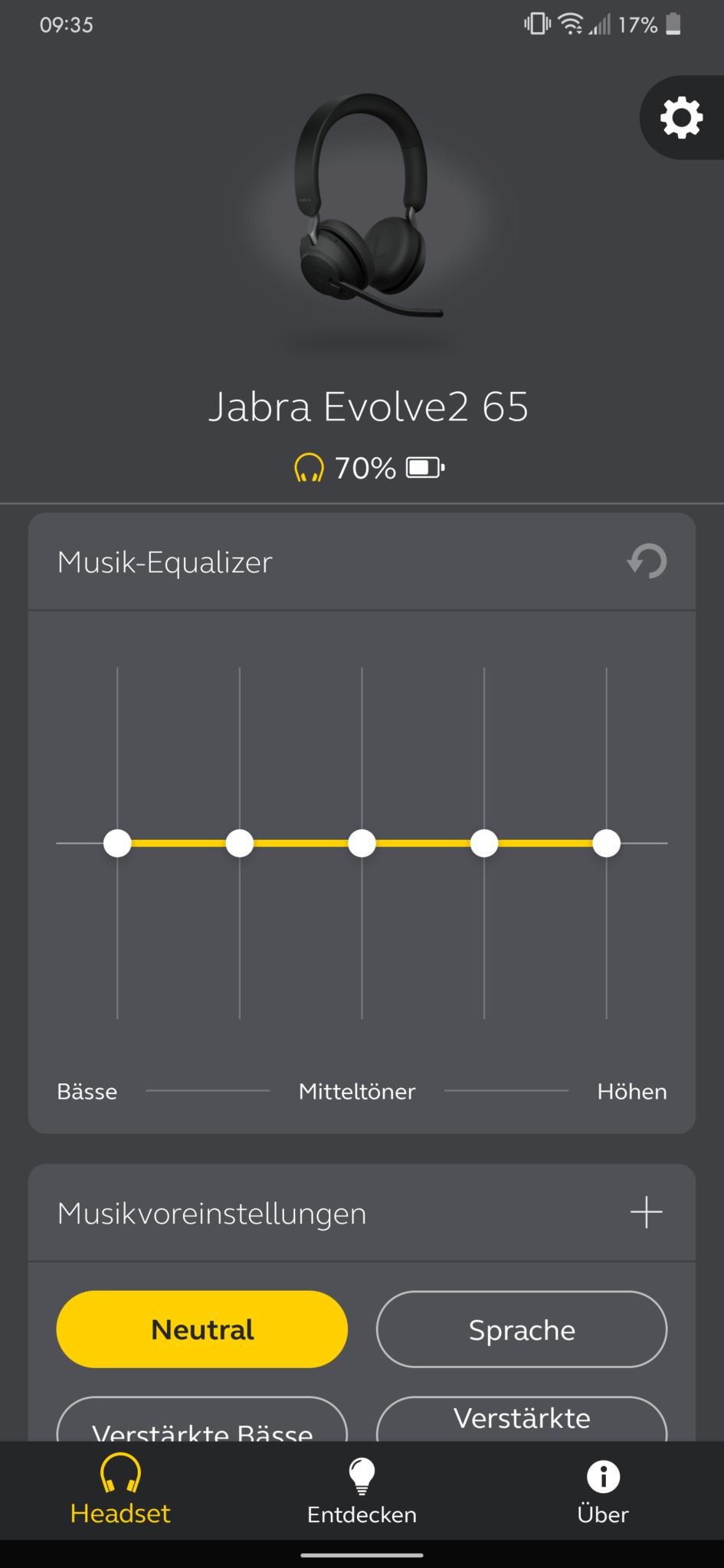 Jabra Sound+ Jabra Evolve2 65 Test Review Headset 4