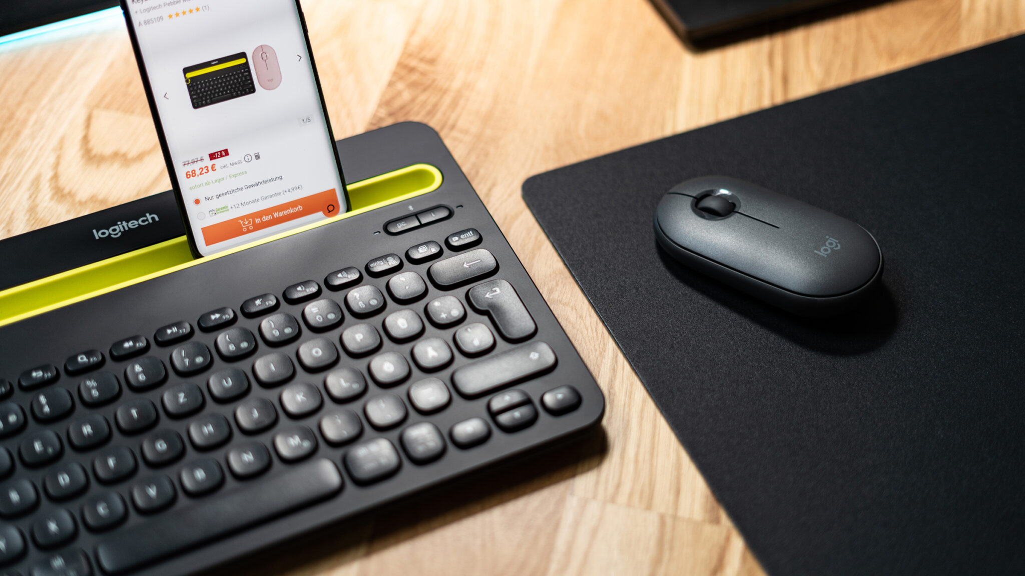 Logitech Pebble M350 & K480 im Test: Solide Bluetooth-Maus- und -Tastatur-Kombi mit nützlichen Extras
