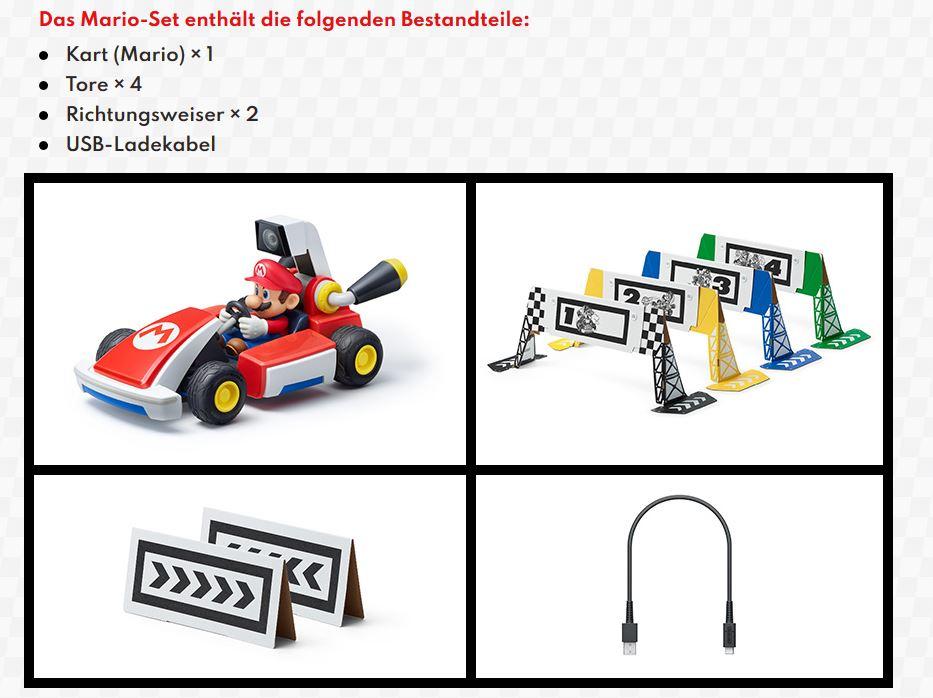 Mario Kart Live Home Circuit Nintendo Packungsinhalt