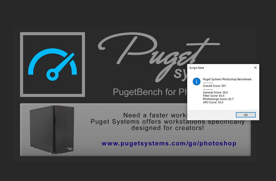 Puget Systems Photoshop Benchmark 2018 Lenovo IdeaPad Flex 5