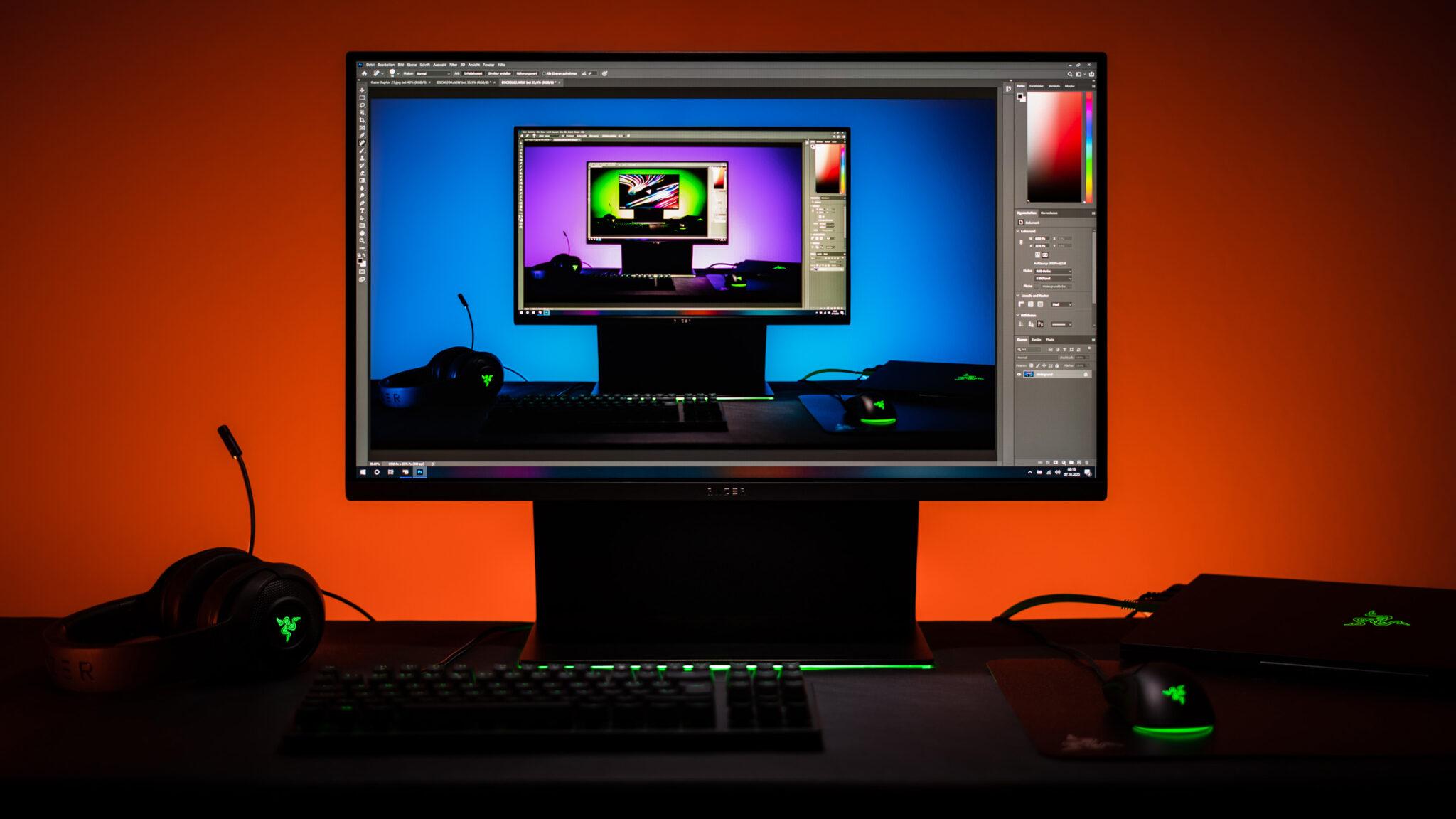 Razer Raptor 27 Gaming-Monitor Bildbearbeitung