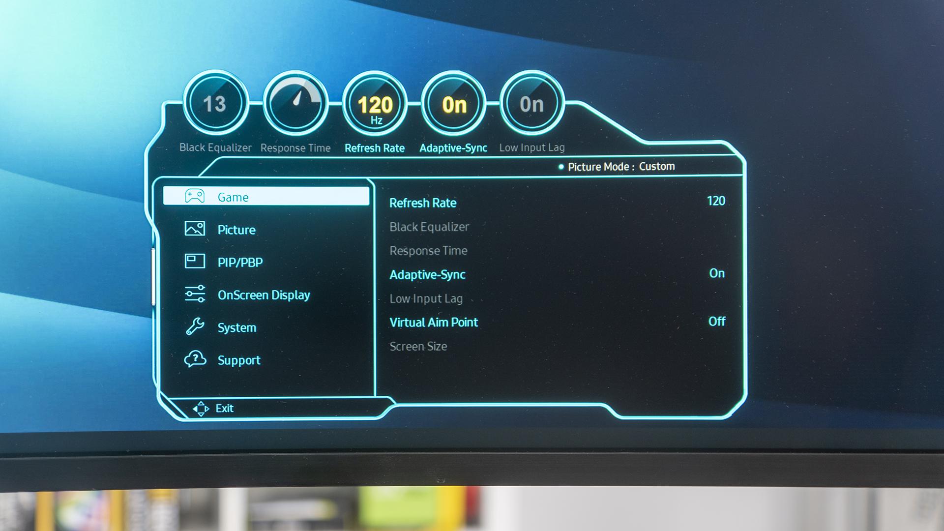 Samsung Odyssey G9 OSD Game