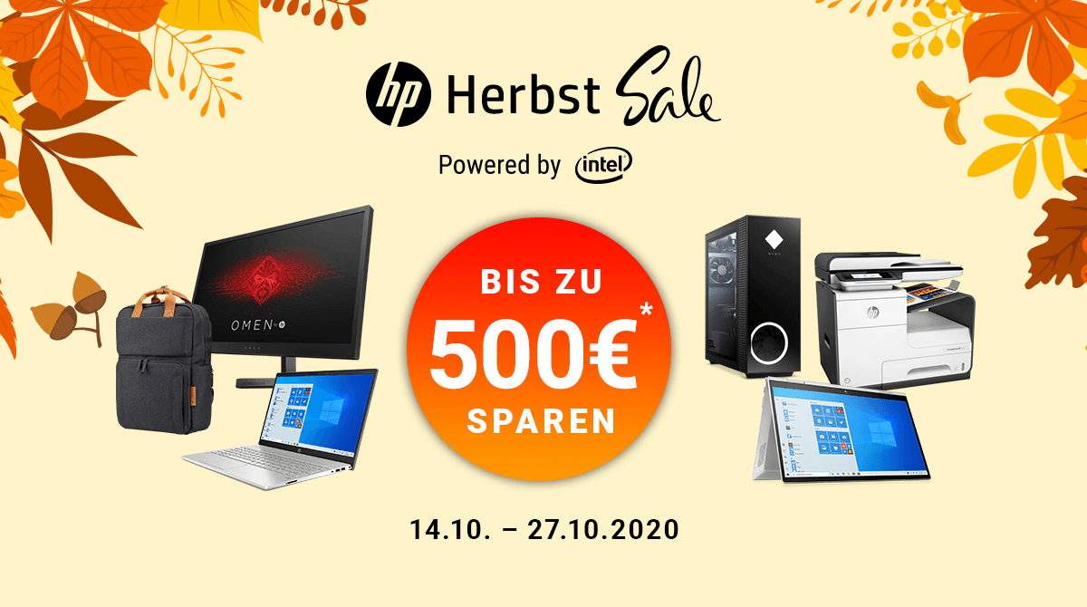 Spare bis zu 500 Euro beim HP Herbst Sale