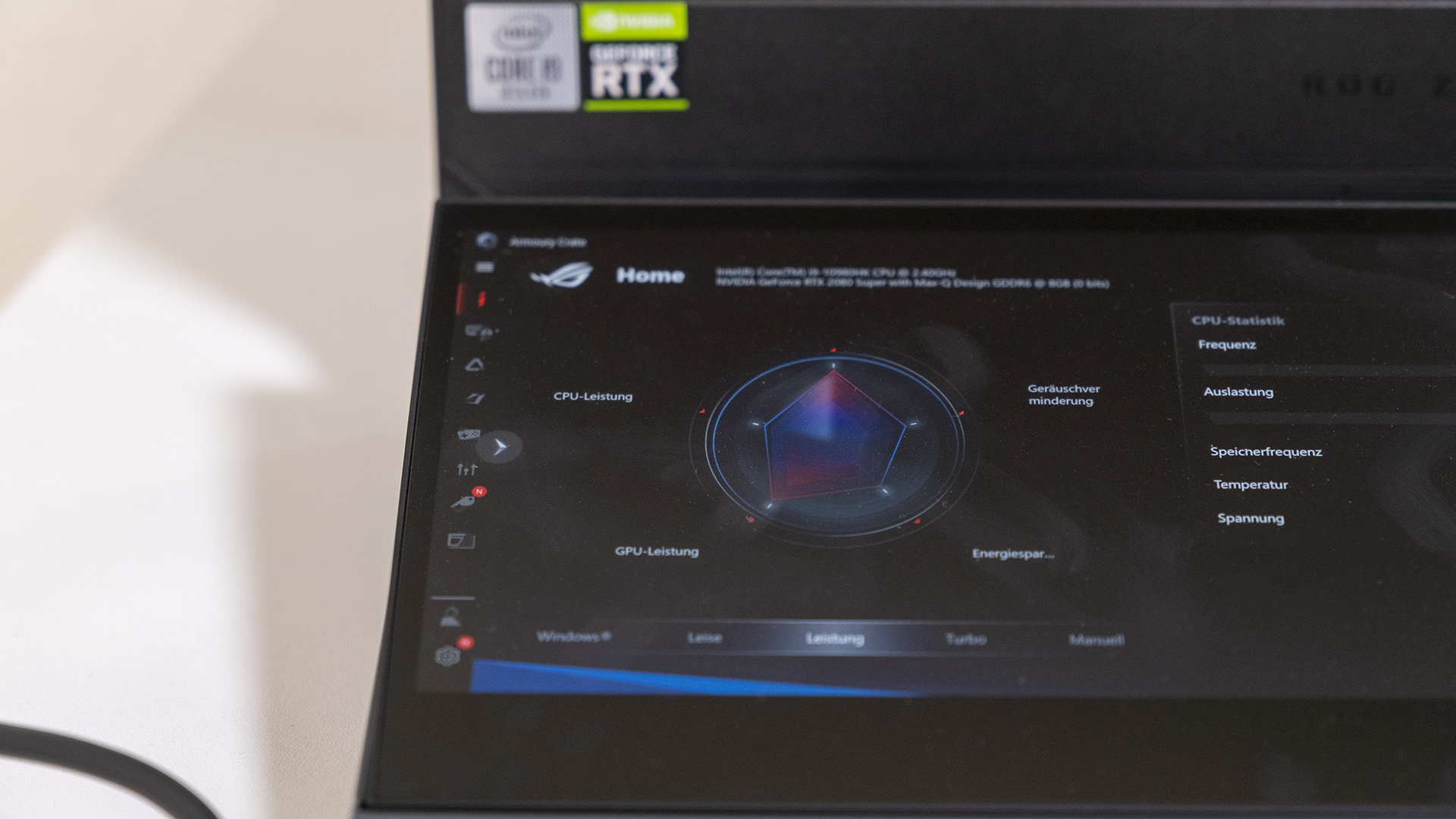ASUS ROG Zepyhrus DUO 15 GX550 Armoury Crate