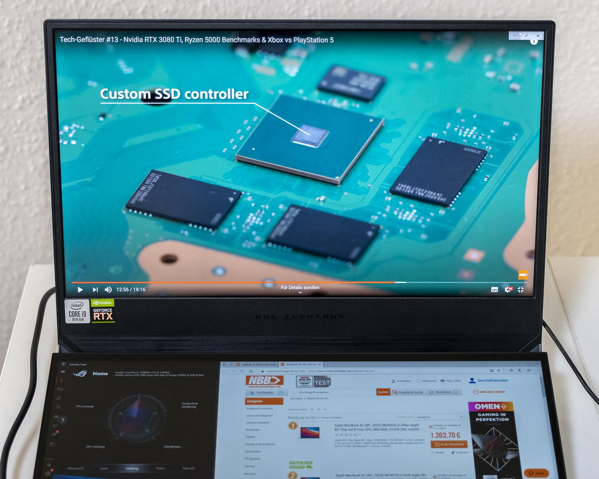 ASUS ROG Zepyhrus DUO 15 GX550 Multitasking 1