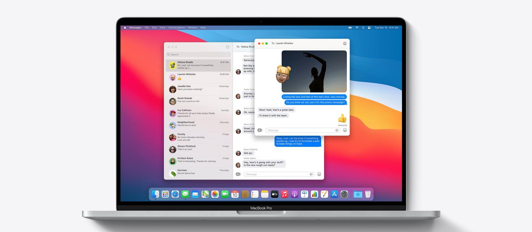 Apple macOS big Sur iMessages