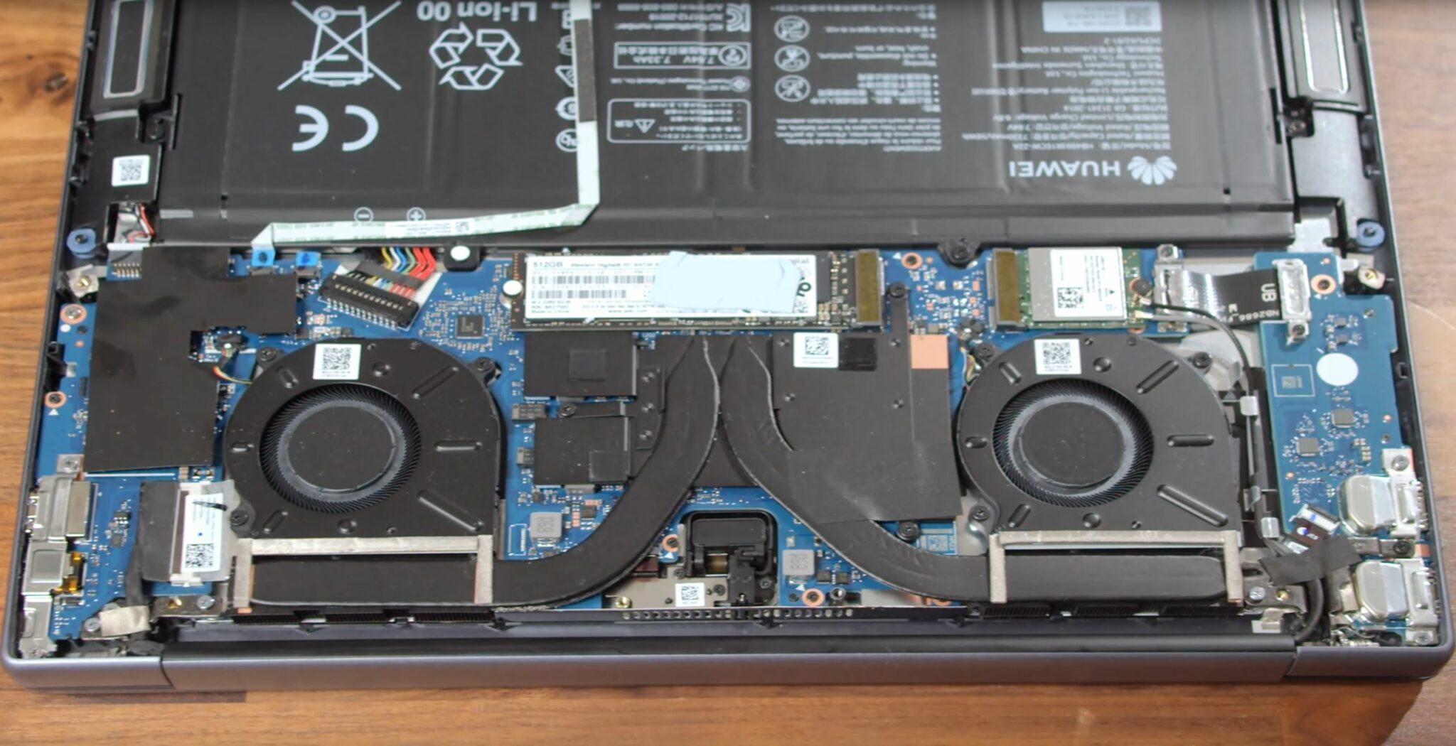 Huawei MateBook 14 AMD Ryzen 7 4800H Aufrüsten Lüfter