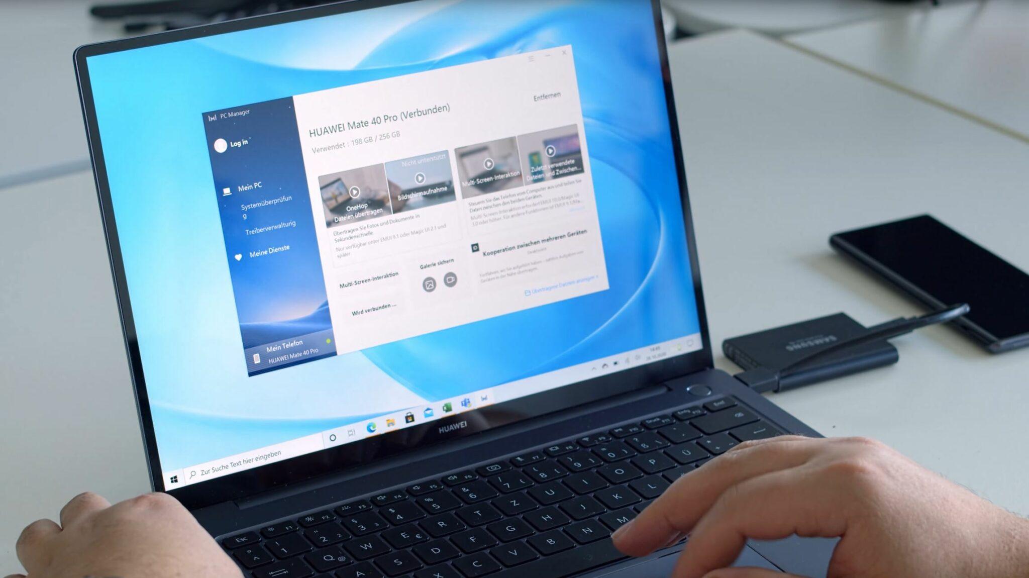 Huawei MateBook 14 AMD Ryzen 7 4800H PCManager