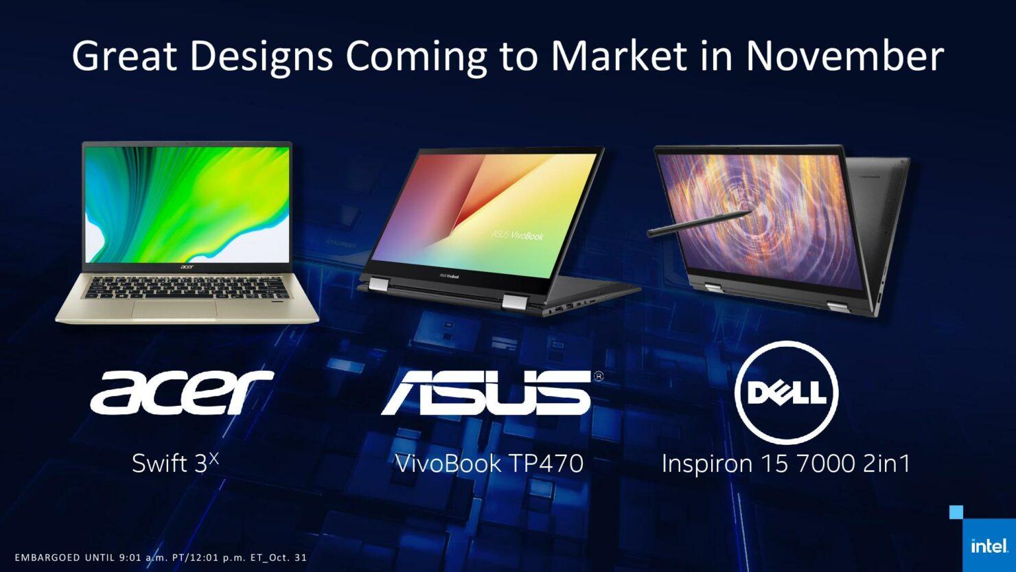 Intel Iris Xe Max GPU Laptops