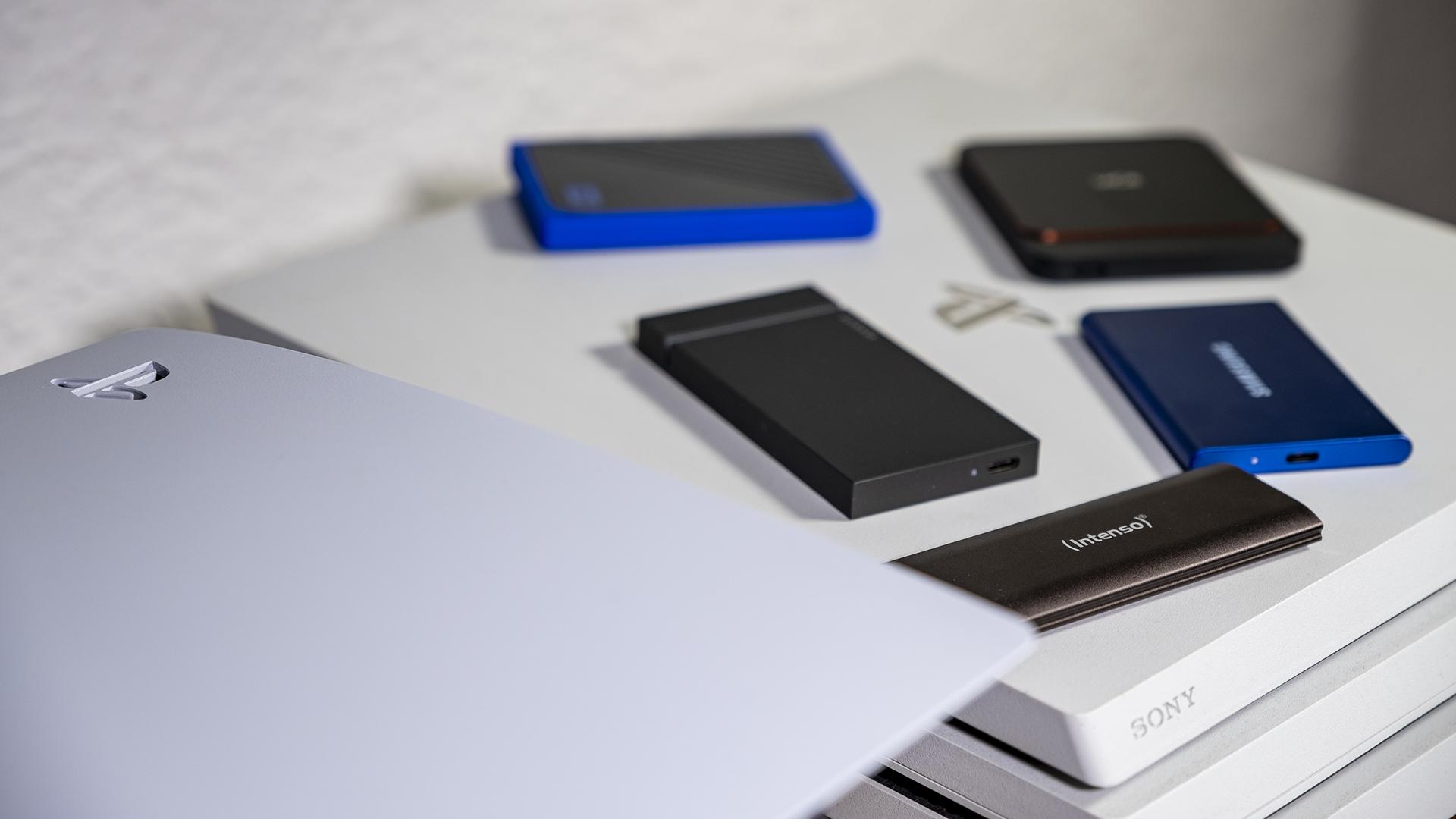 Sony PlayStation 5 Vergleich externe SSDs Comparison external SSDs USB