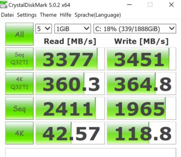 Zephyrus Duo 15 Crystal Disk Benchmark