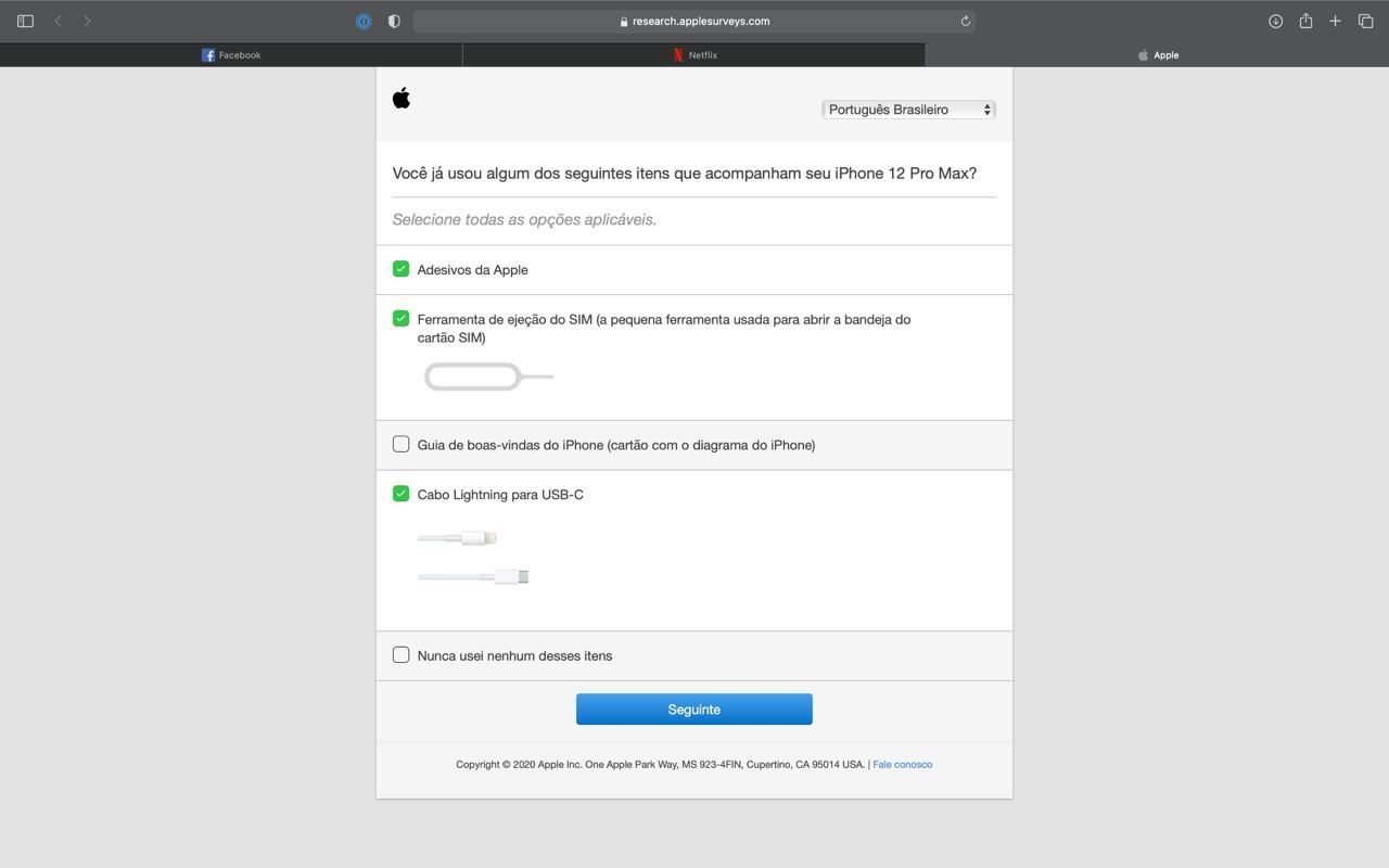 Apple Umfrage zu iPhone Zubehör Portugiesisch
