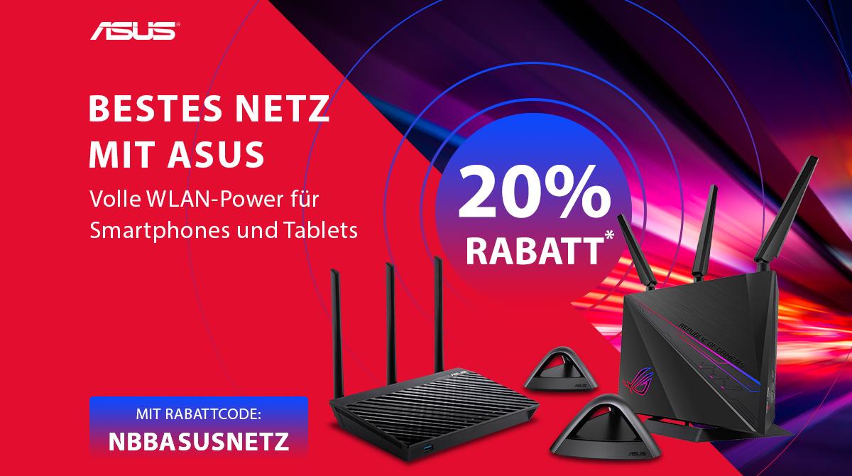 Bestes Netz mit ASUS: 20% Rabatt auf Router, Mesh-Systeme und WLAN-Karten