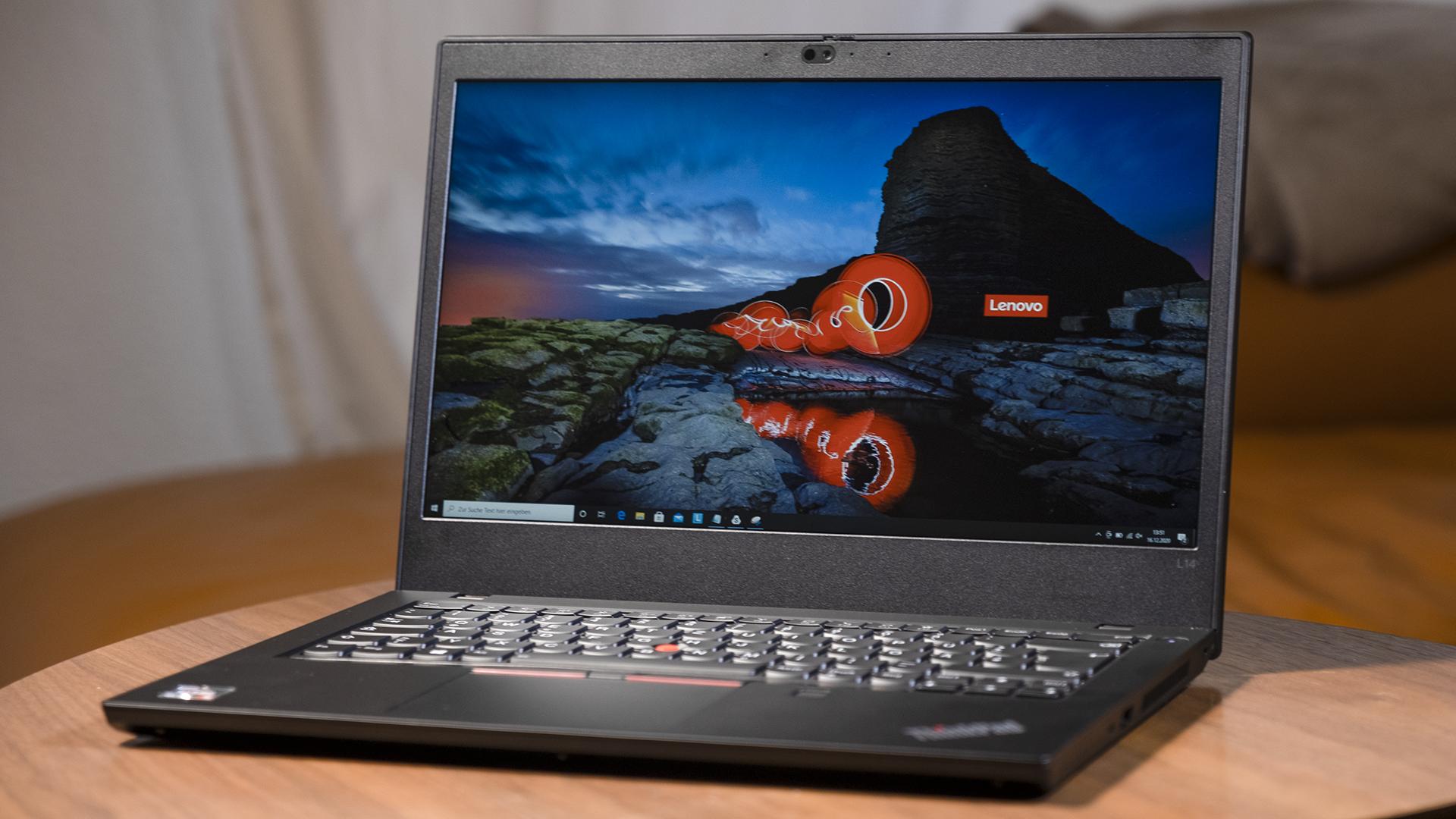 Lenovo ThinkPad L14 Totale offen Menü