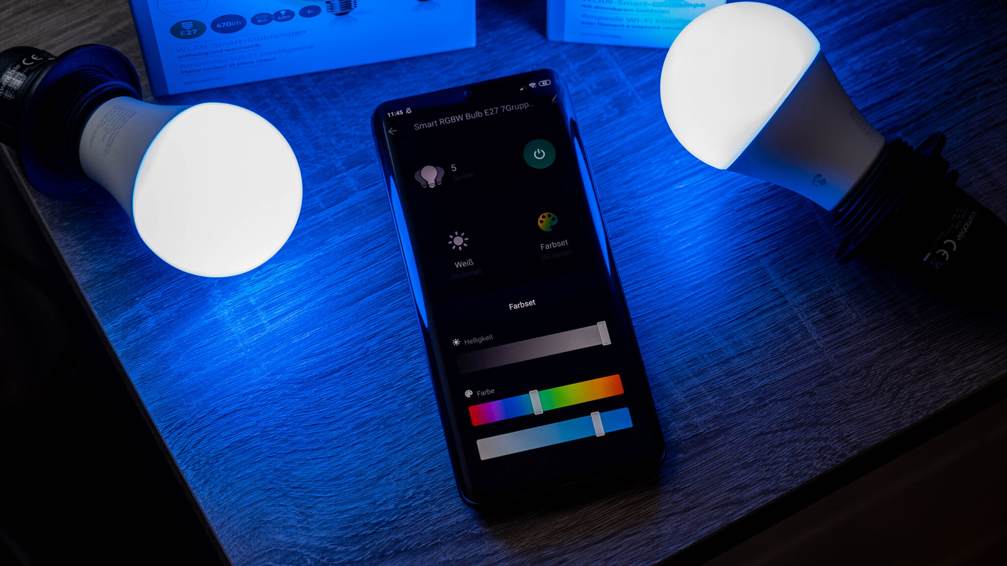 Nedis Smart Bulb WLAN LED Lampe Steuerung