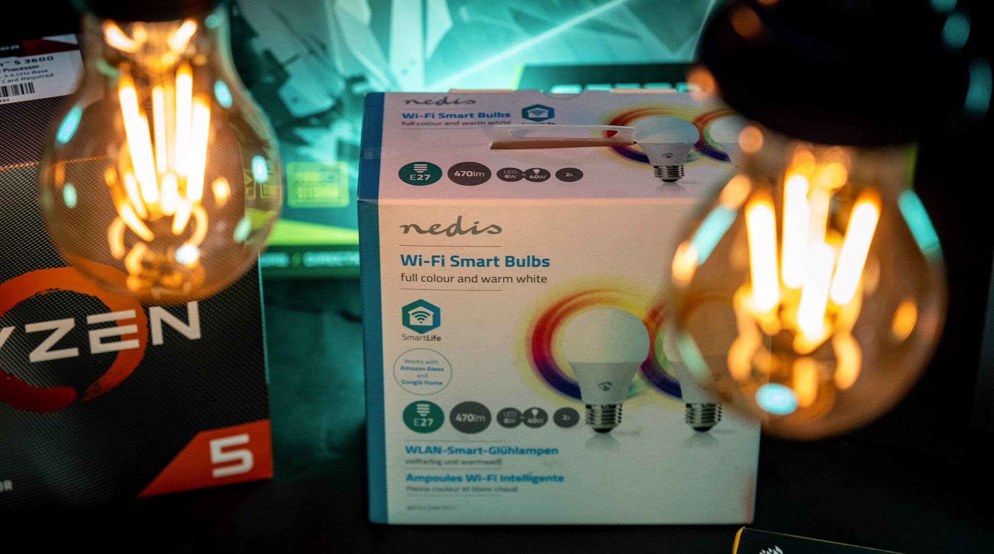 Nedis WLAN Smart LED-Lampe im Test: Günstige RGB-Lampen für den kreativen Einsatz