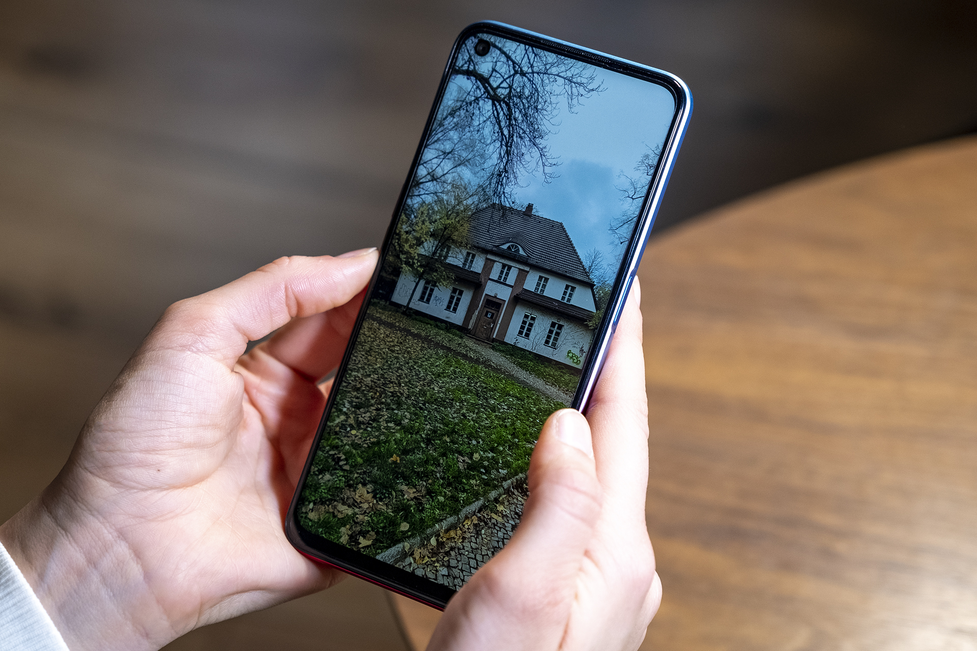 OPPO A73 5G Smartphone Review Display Vorderseite