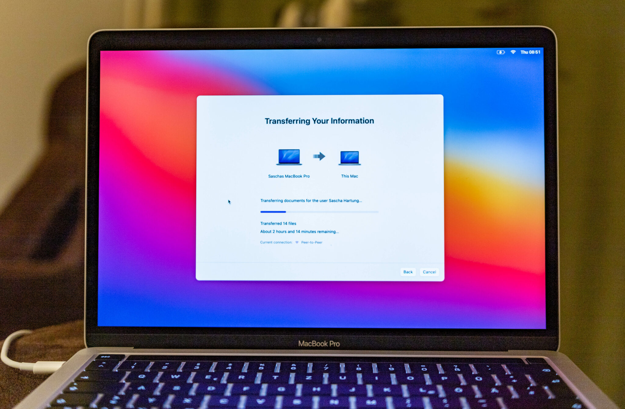 Apple MacBook Pro M1-Data transfer