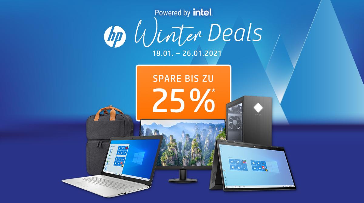 Spare bis zu 25% bei den HP Winter Deals