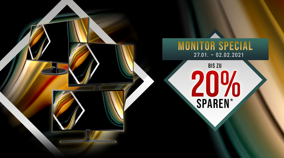 Monitor-Special: Spare bis zu 20% auf ausgewählte Displays