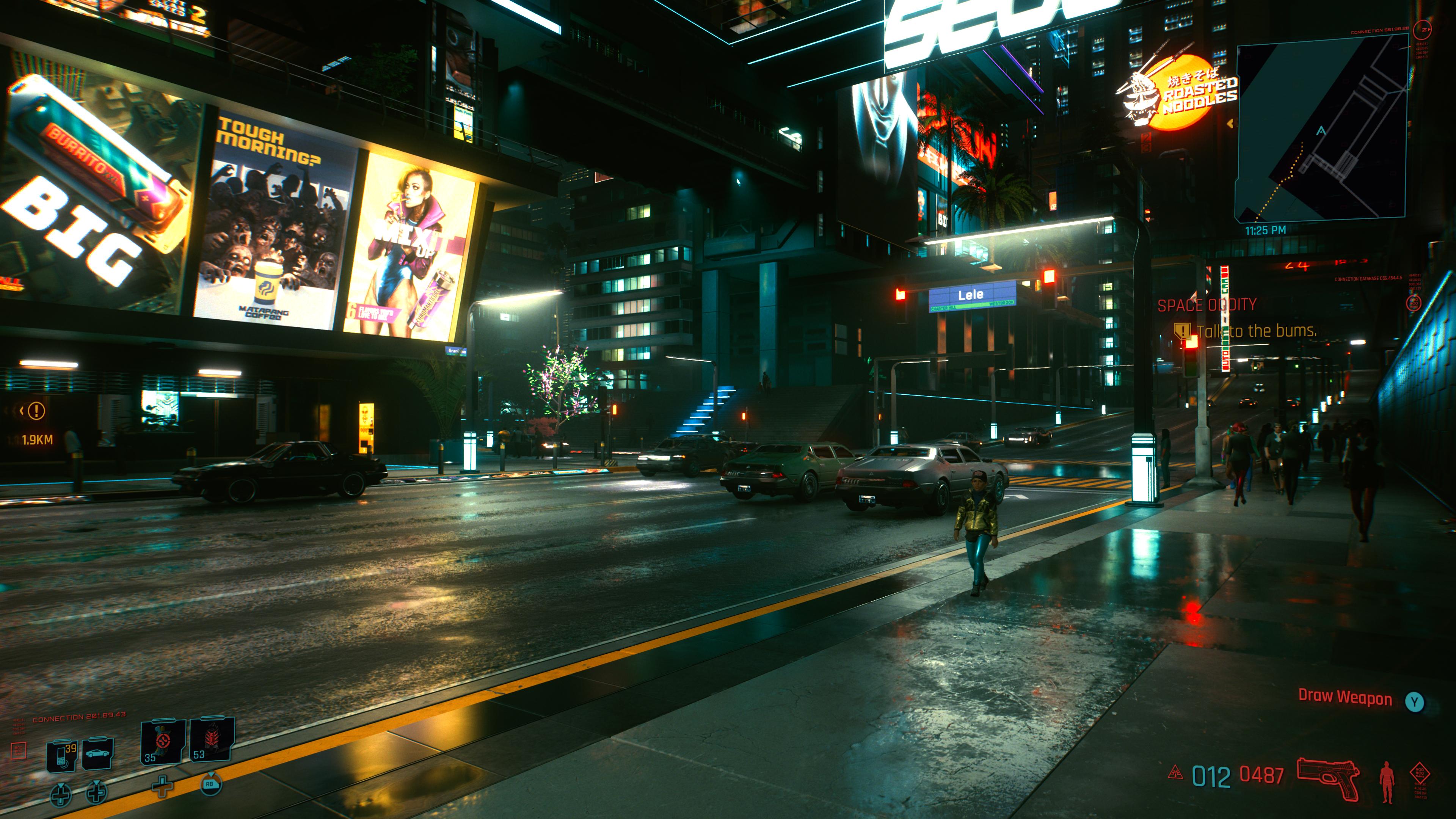 Cyberpunk 2077 (C) 2020 by CD Projekt RED RTX On bei Nacht