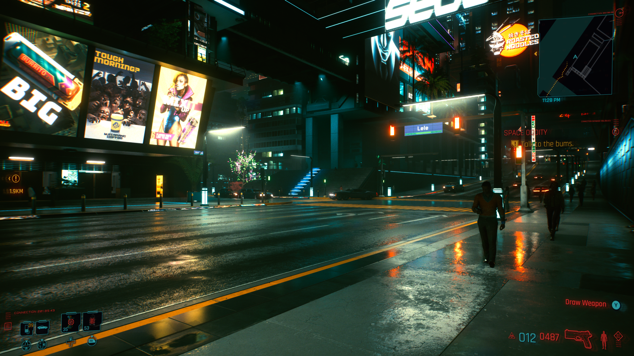 Cyberpunk 2077 (C) 2020 by CD Projekt RED RTX OFF Screen Space Reflections