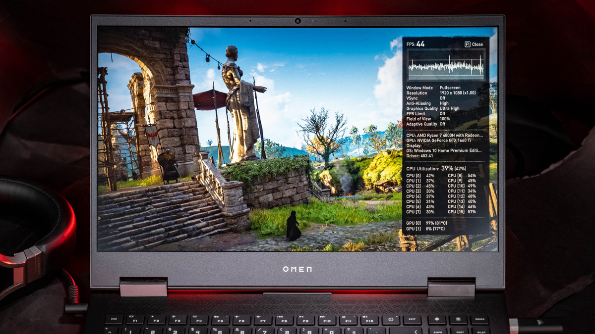 OMEN 15 2020 Gaming-Notebook Benchmark