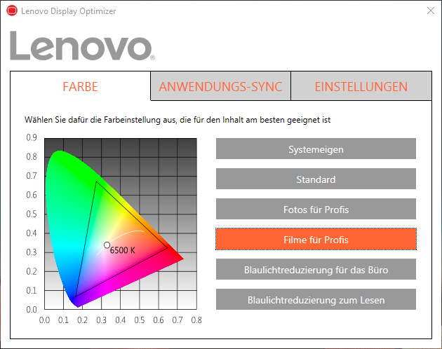 Lenovo Display Optimizer