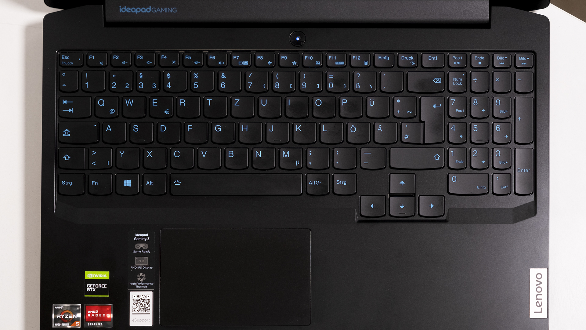 Lenovo IdeaPad Gaming 3 AMD Tastatur Totale